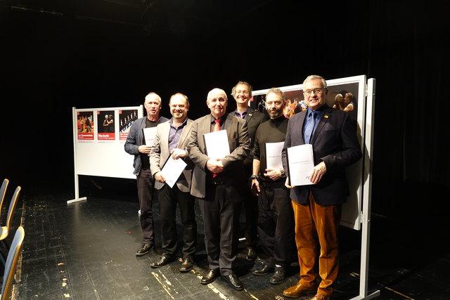 v.l.n.r.: Harald Demmer, Andreas Bronkalla, Urs Häberli, Uwe Sandner, James Sutherland und Theo Wieder