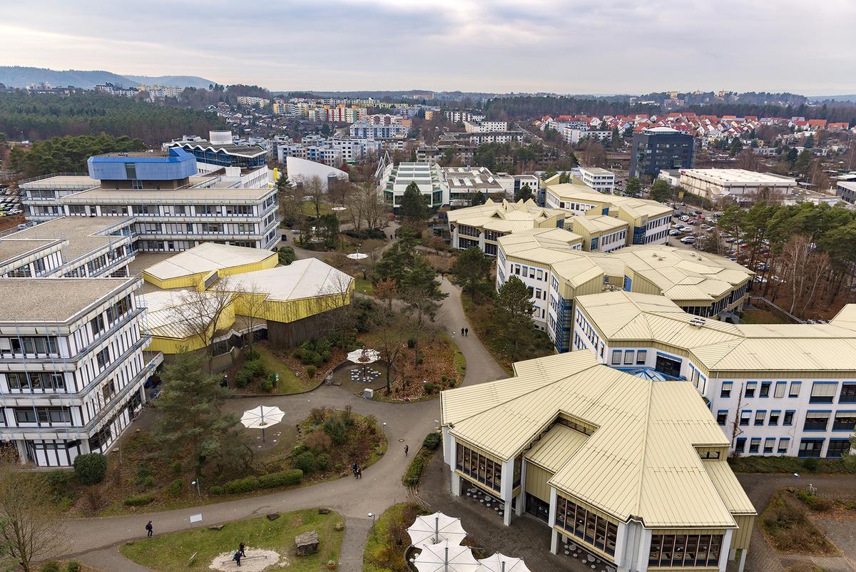 Blick vom Verwaltungsgebäude der Technischen Universität Kaiserslautern