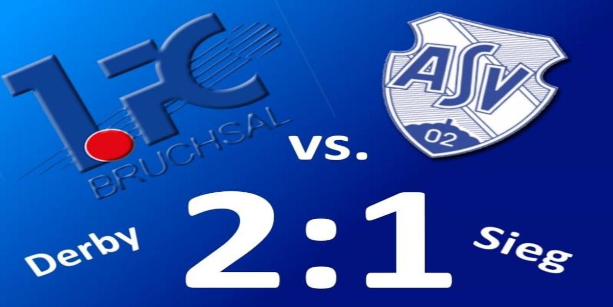 1.FC Bruchsal: Mühevoller Sieg im Derby gegen den ASV Durlach