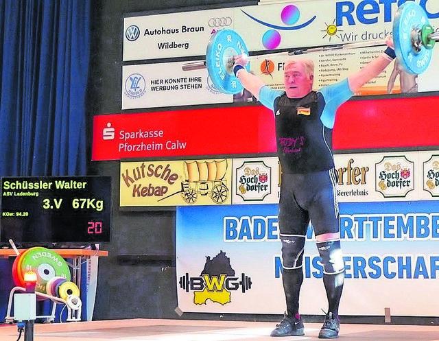 Walter Schüßler holte in seiner Klasse den Landestitel.
