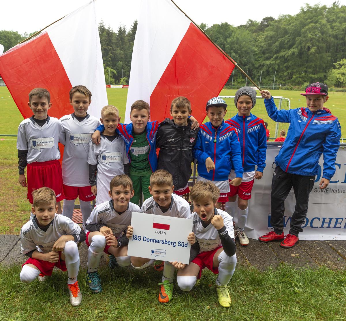 Die JSG Donnersberg Süd trat in den Trikots von Polen an.