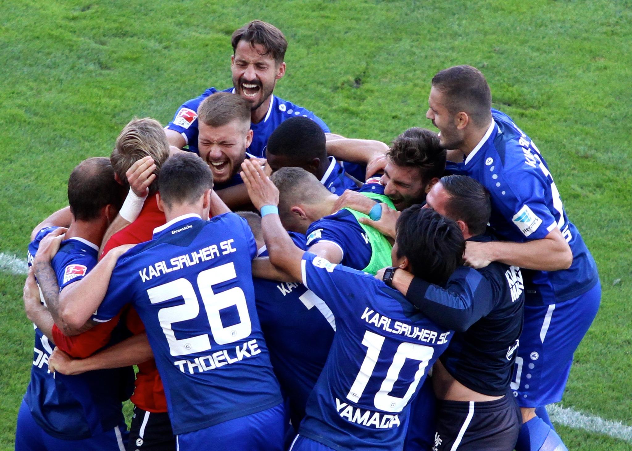 Aue Karlsruhe Relegation