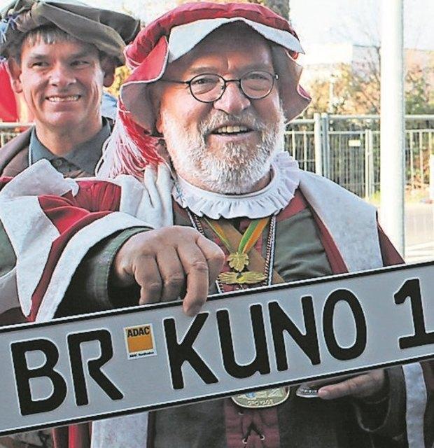"""Es wird ein Gag bleiben, das BR-Kennzeichen, wie das der Bruchsaler Faschingsikone """"Graf Kuno""""."""