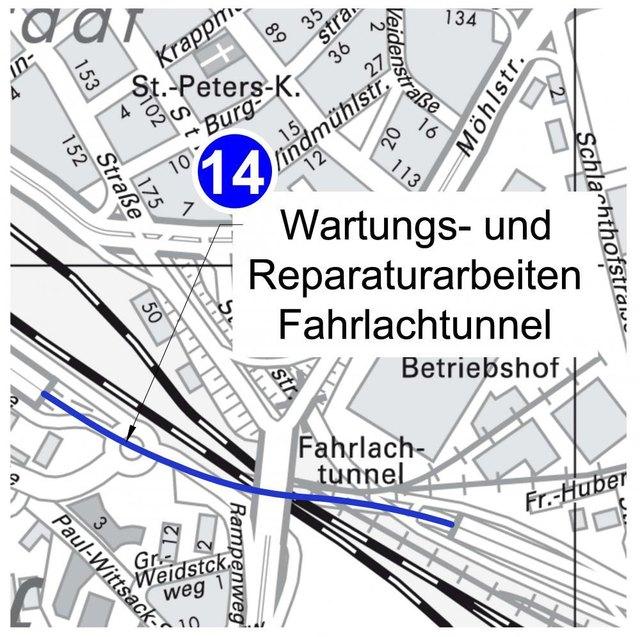 Autofahrer müssen im Bereich des Fahrlachtunnels in den Pfingstferien Baden-Württemberg von Montag, 21. Mai, bis Sonntag, 3. Juni 2018, mit Verkehrsbeeinträchtigungen rechnen.