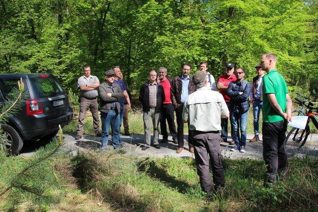 Der Kronauer Gemeinderat informiert sich im Wald