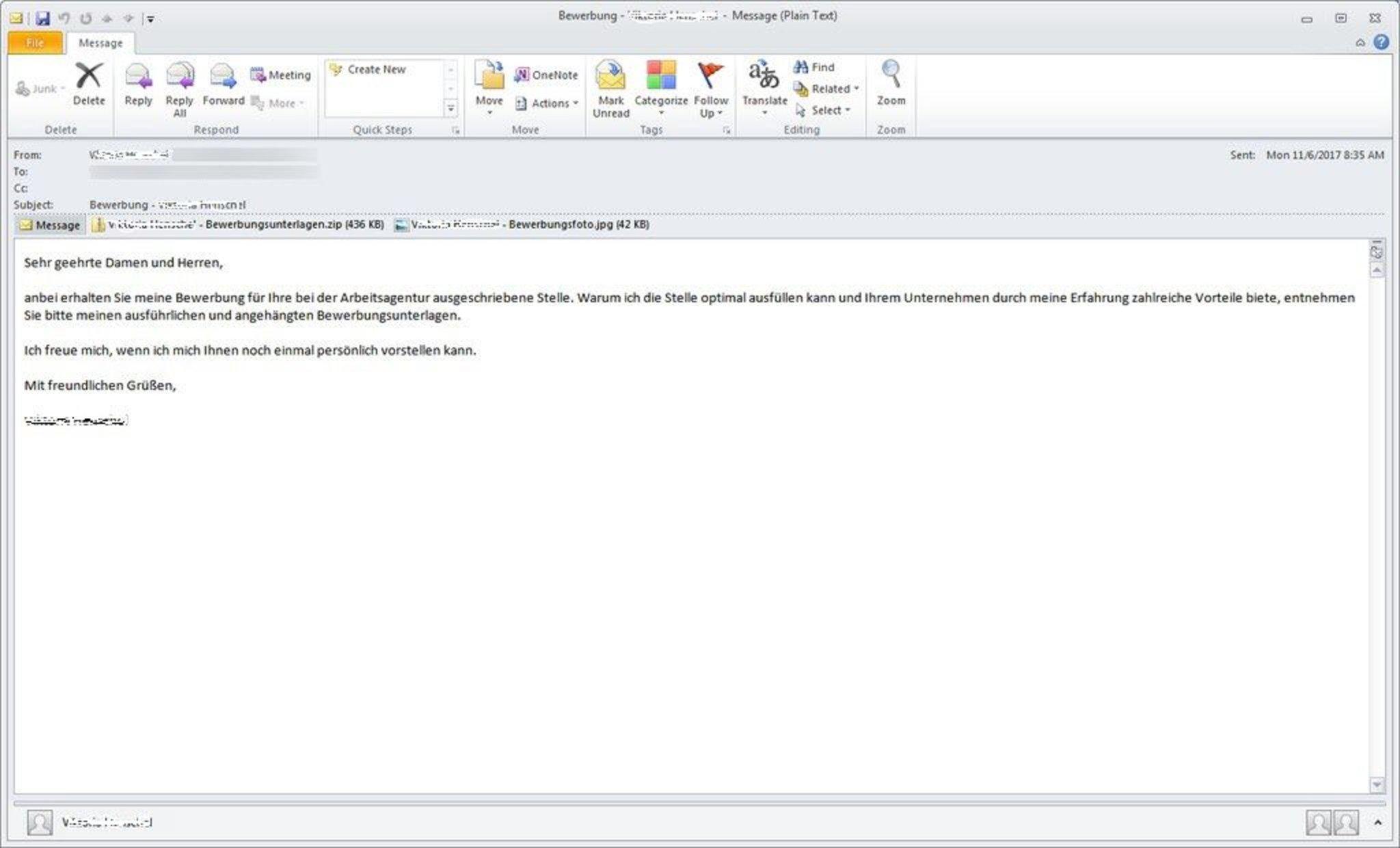 Polizei warnt vor gefährlichen E-Mails: Falsche Bewerbungen enthalten  Computerviren - Bruchsal