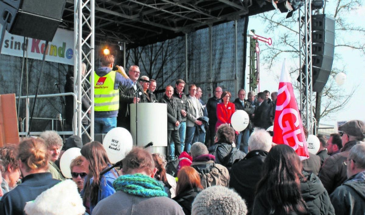 Das Bild zeigt ein Bild von einer der Demonstrationen.