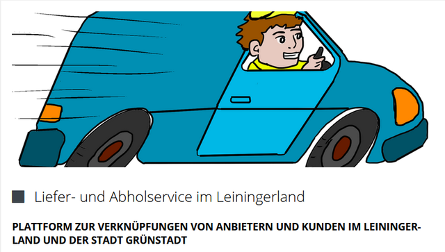 Übersicht Liefer- und Abholdienste in Stadt Grünstadt und VG Leiningerland