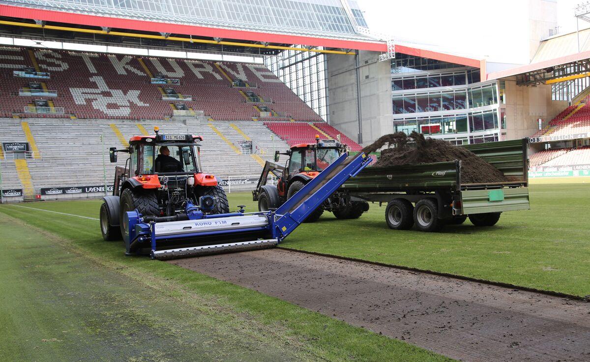 Das Fritz-Walter-Stadion bekommt einen neuen Rasen